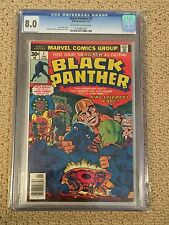 Black Panther 1 CGC 8.0 OW/ White Pages (1977- 1st comic of his own title)
