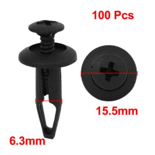 New 100 Pcs Plastic Push Type Rivet Retainer Fastener Bumper Pin Clips Sales