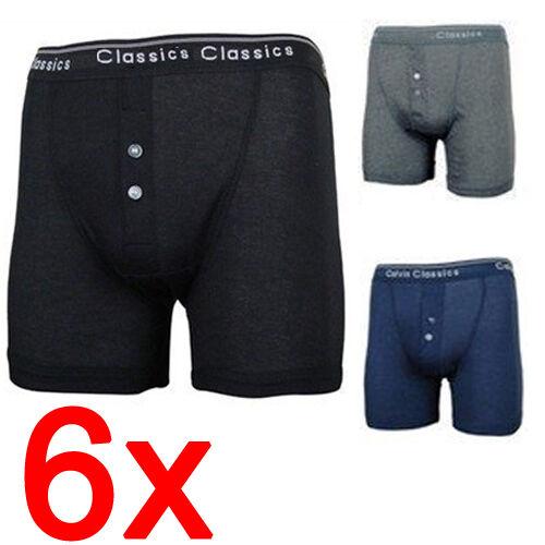 6 X Boîte Classique Homme Designer Boxer Shorts Sous-vêtements Caleçons COTON SLIPS NEUF