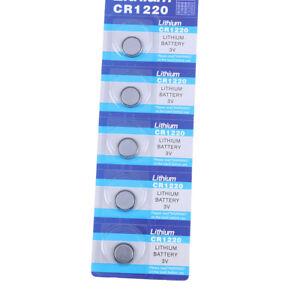 5-Stuecke-CR1220-1220-3-V-MuenzknopYBatterien-Zelle-Batterie-fuer-uhr-Spielz-TG