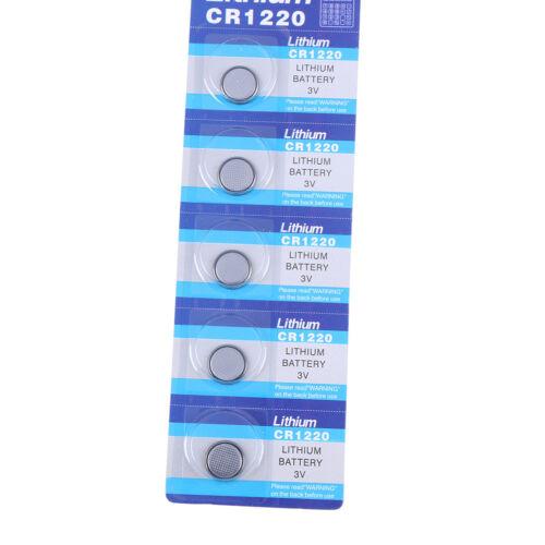 5 Stücke CR1220 1220 3 V MünzknopYBatterien Zelle Batterie für uhr Spielz TG