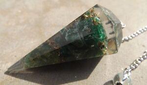 Facettes Orgone Guérison Vert Aventurine Cristal Radiesthésie Pendule-afficher Le Titre D'origine Vif Et Grand Dans Le Style