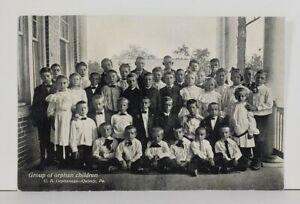 Quincy-Pa-Group-of-Orphan-Children-U-B-Orphanage-c1907-Pennsylvania-Postcard-N3