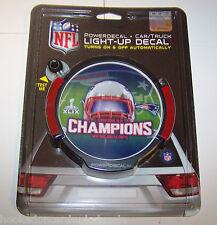 1 New England Patriots Power Decal Flashing Logo 2014 Super Bowl 49 Champions