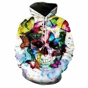 Men//Women 3D Graphic Print Casual Hoodie Sweatshirt Pullover Jumper Tops New