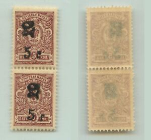 Armenia-1920-SC-136-mint-black-Type-F-or-G-vertical-pair-e9421