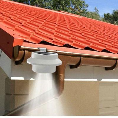 New 1PCS 3LED Outdoor Solar Powered Security Spot Light Wall Lamp Garden