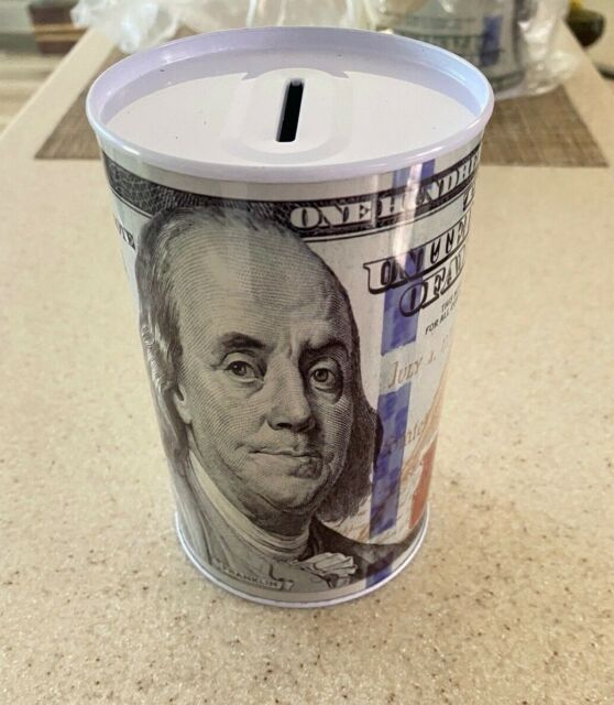 "Tin Money Piggy Bank Savings 6.5/"" EMOJI SMILEY FACE FINANCIAL FREEDOM FAST SHIP!"