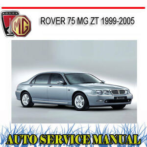rover 75 mg zt 1999 2005 service repair manual dvd ebay rh ebay com au rover 75 service manual free download rover 75 service manual download