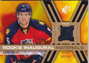 14-15-SPX-Aaron-Ekblad-99-Rookie-PATCH-Inaugural-Materials-Panthers-2014