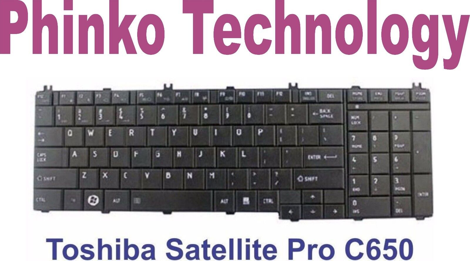 Toshiba C650 L650 L670 keyboard black Matte US PCRepair
