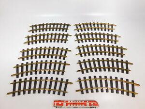 CH442-3-10x-LGB-Lehmann-Spur-G-IIm-DC-1100-Gleis-Gleisstueck-gebogen-sehr-gut