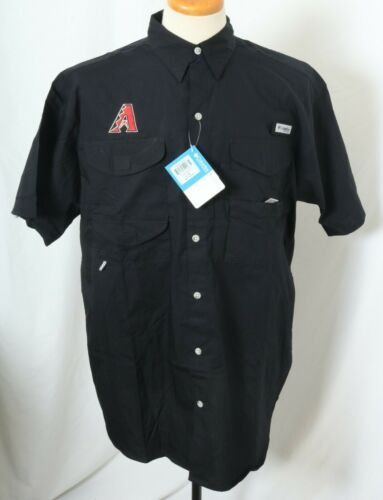 NEW Arizona Diamondback Embroidered Columbia PFG Bonehead SS Shirt Men/'s L