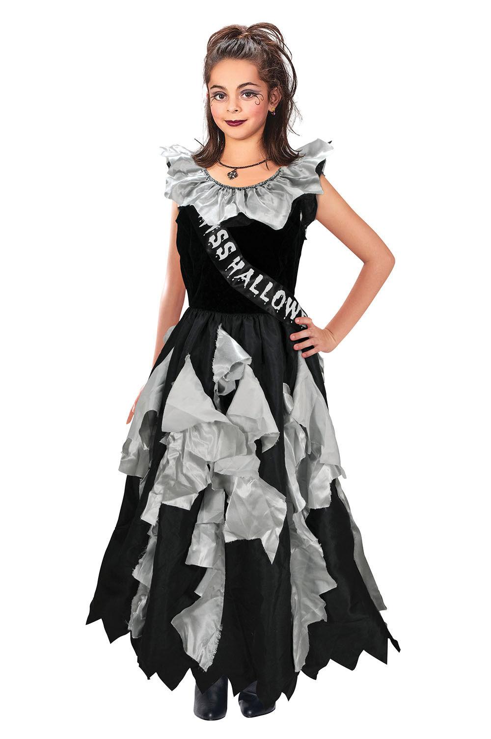 Zombie Prom Queen Halloween Living Walking Dead Fancy Dress For Girls