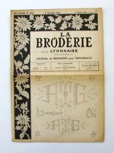 La Broderie Lyonnaise N°1114 - 1954 - Broderies Pour Trousseaux - Alphabet - B9g5iqxy-07161716-225466607
