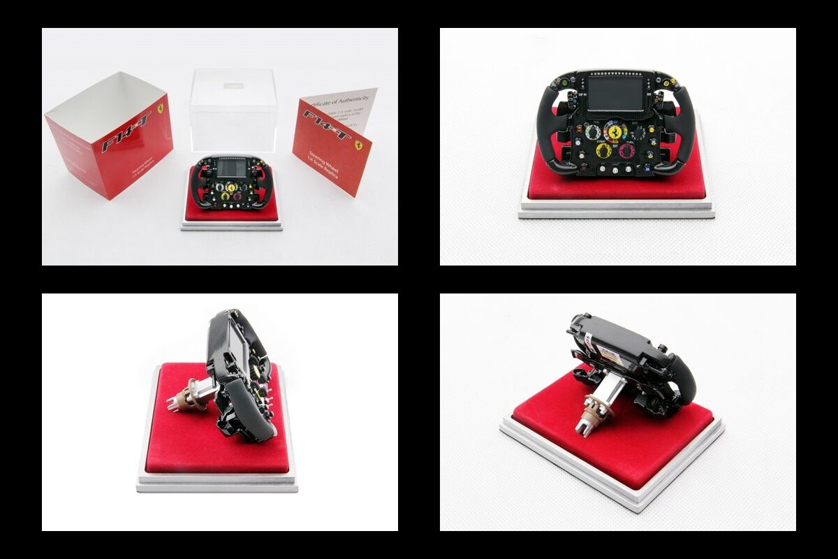 1 4 Amalgam Ferrari F14T 2014 Fernando Alonso Kimi Raikkonen Steering Wheel NEW