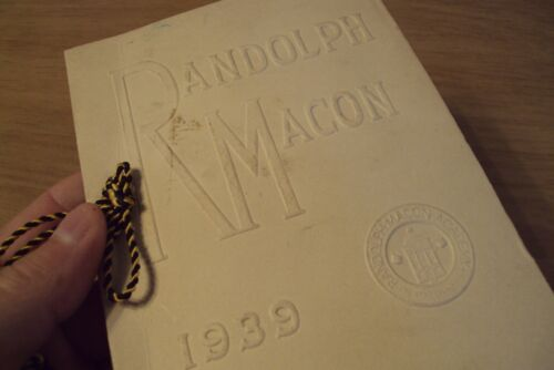 "VTG 1939 COMMENCEMENT Program~""RANDOLPH MACON ACADEMY""~Front Royal VA~"