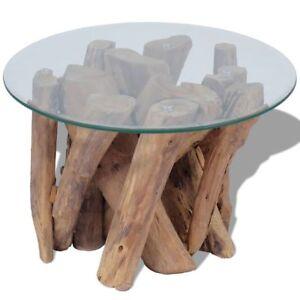 Image Is Loading VidaXL Solid Teak Wood Coffee Table Living Room