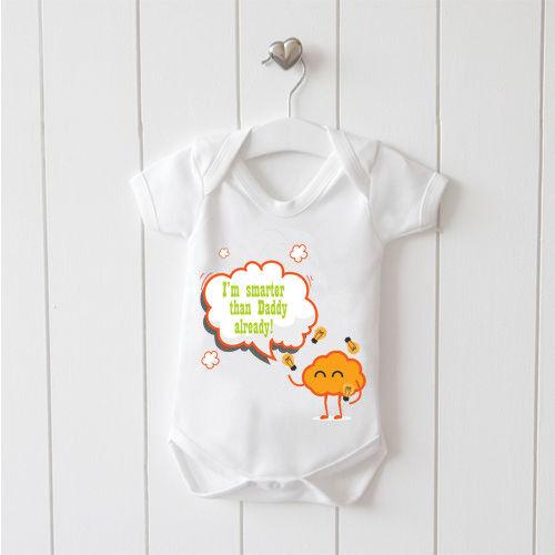 Smarter Baby Gilet Baby Grow 100/% Coton Garçons Filles bodys Mignon