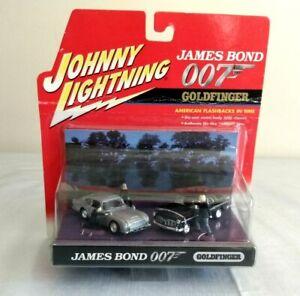 Johnny-Lightning-James-Bond-007-Goldfinger-2-Car-Set-Aston-Martin-Chrysler-1-64