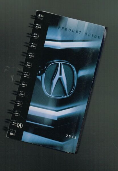 2001 Acura Venditore / Solo Tasca Prodotto Guida Brochure: Nsx , Mdx, Rl, Tl, Cl Disponibile In Vari Disegni E Specifiche Per La Vostra Selezione