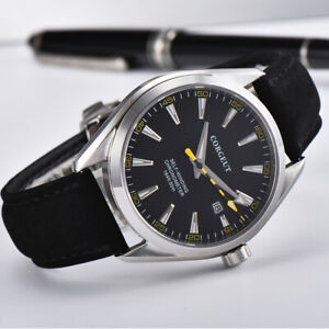Corgeut-41mm-black-dial-date-sapphire-Crystal-Automatic-movement-mens-Watch