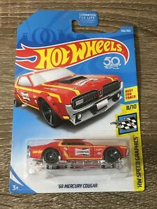 2018-Hot-Wheels-106-Speed-Graphics-8-10-039-68-MERCURY-COUGAR-Red-New-Sealed