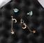 Space-Universe-Star-Moon-Stud-Earrings-Planet-Asymmetric-Jewelry-For-Women-Girl thumbnail 2