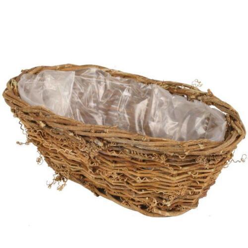 Pflanzschale Pflanzkorb aus Reben Weidenkörbe Weidenkorb Flechtkorb Rebenkorb