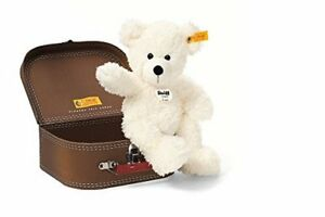 Steiff-Lotte-Teddy-Bear-In-Suitcase-Plush-White