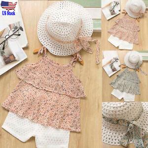 3PC-Child-Infant-Baby-Girl-SummerBeach-Floral-Vest-Top-Pant-Outfit-Set-Kid-Cloth