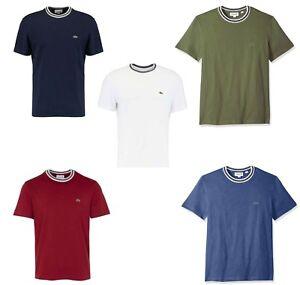 314fcbea Lacoste Men's Tee Cotton Semi Fancy Crew Neck Regular Fit Jersey T ...