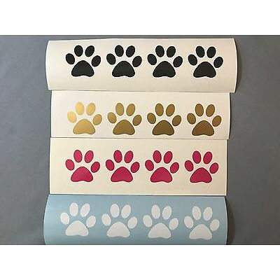 (10) Pet Paw Prints Vinyl Decals Stickers Cat Dog Puppy Kittens Window Yeti