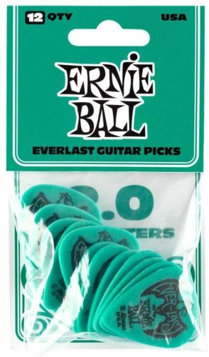 Set of 12 Plectrums Ernie Ball P09196 Everlast Guitar 2.0mm Picks