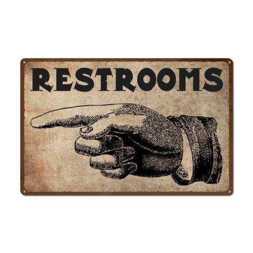 funny rustic vintage Restroom sign A5