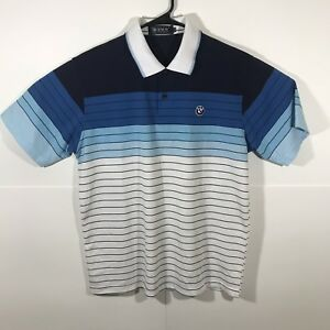 6f1ce6d5449e Bmw Polo Shirt Mens Size XXL Striped Vintage Embroidered Logo   eBay