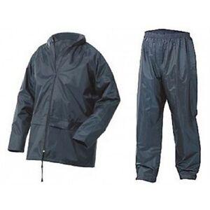 Adults-Waterproof-Jacket-amp-Trousers-Packaway-Set-Rain-Suit-Mens-Ladies-Womens