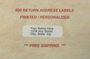 800 - Personalized Laser Printed Address Labels - 1/2 x 1 3/4