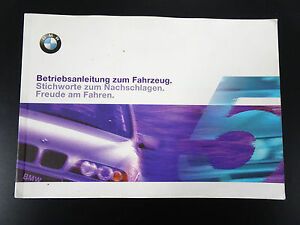 Orig-BMW-5er-E39-Handbuch-Betriebsanleitung-Bedienungsanleitung-Bordbuch-2000