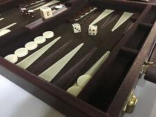 Estate Find Vintage Backgammon Set Magnetic Travel in Faux Leather Case