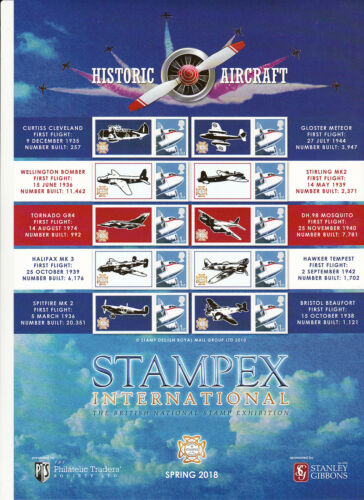 BC509 Stampex Spring 2018 Smilers Stamp Sheet