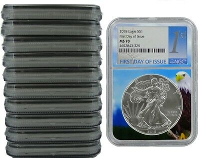 Black Core 2019 1oz Silver Eagle NGC MS70 First Day Issue