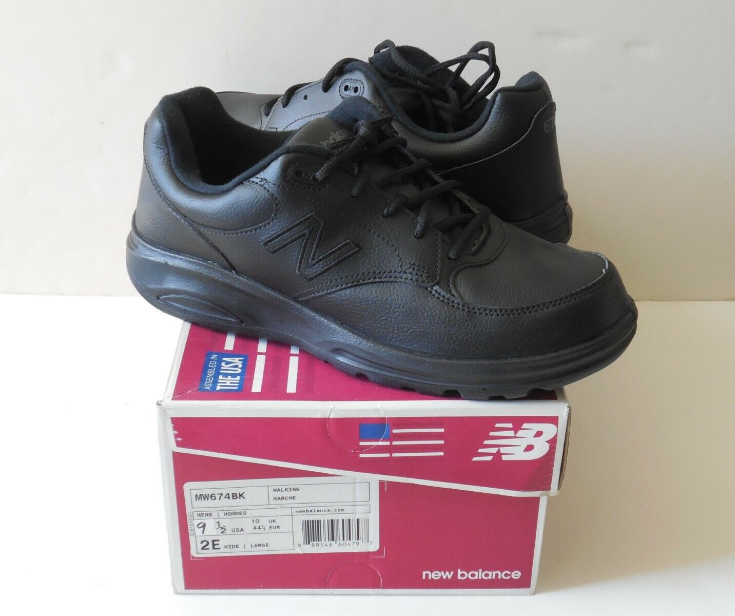 New Balance 674 Wandern MW674BK Herren Schuhe 9.5 2E Breit USA Neu