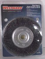 Arbor Wire Wheel Brush Crimped Wire 6 Brush Dia. 5/8-1/2 Arbor 4edp6(b27s)