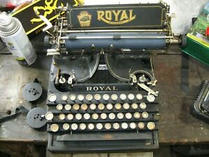 rare royal no.5 typewriter for parts or restore