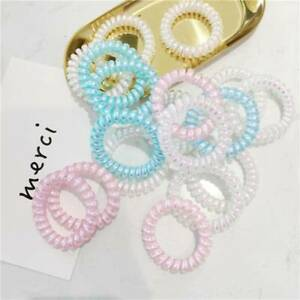 Womens-Spiral-Coil-Phone-Cord-Hair-Ties-Ring-Rope-Colorful-Ponytail-Holder-2pcs