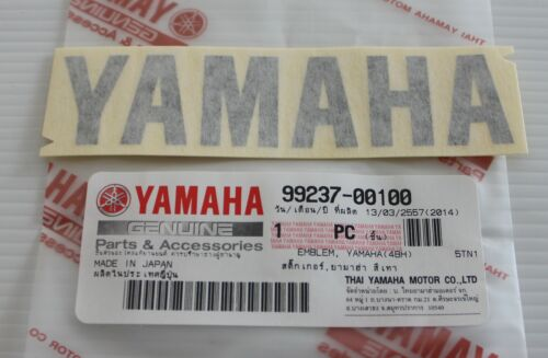 100/% Original Yamaha 100mm X 23mm Metallic Dunkelgrau Abziehbild Plaketten-Logo