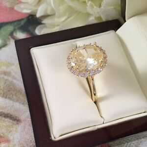 Antique Art Deco VintageJewellery Yellow Gold Ring with Rubies and White Sapphires jewelry dress ring size 8 or Q