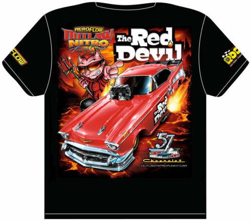 /'Red Devil/' /'57 Chev Aeroflow Outlaw Nitro Funny Car T-Shirt