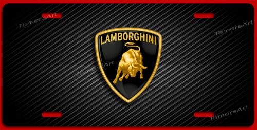 LAMBORGHINI STYLE LICENSE PLATE CARBON FIBER ILLUSION MAde in USA